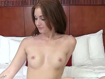 Casting porn to a beautiful redhead with white ass