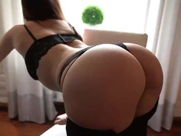 Fucking my lover's ass in a thong