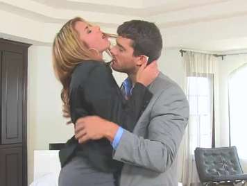 a secretary is unfaithful to her husband with her boss xxx