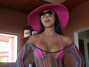 Colombian with nice ass wants milk in her Caribbean pussy