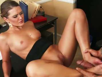 very hot secretary fucks her boss in the office
