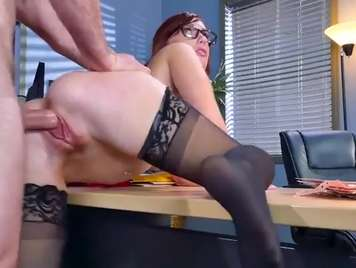 redhead secretary is a fucking machine