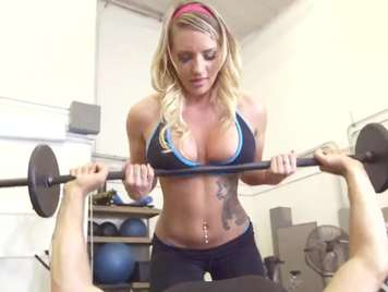fucking in the gym with busty blonde