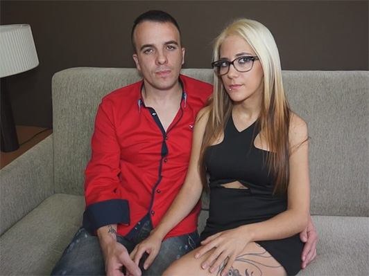 Spanish couple filming a porn scene for the first time