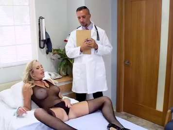 Doctor does a deep checkup to a mature