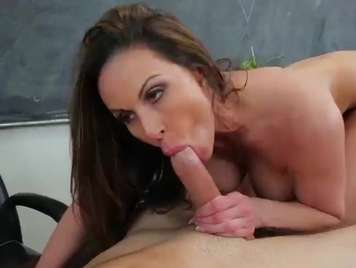 Mature teacher sucking his student's cock
