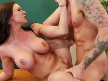 Mature teacher is fucked by her student