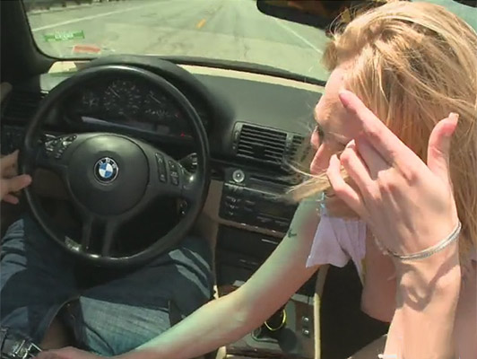 Sucking in the car to 65 mph on the freeway