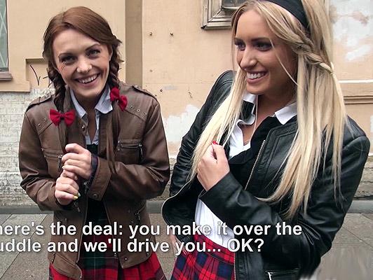 Studentesse ninfomani uscite di collegio duo cazzo in una limousine