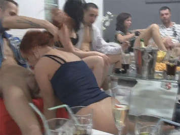 Crazy night end with swinger party