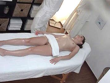Hidden camera in the massage parlor.