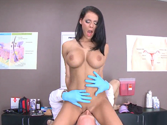 Peta Jensen brunette big tits visit doctor Johnny Sins