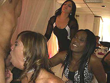 Bachelorette party with black women and Deep Throat