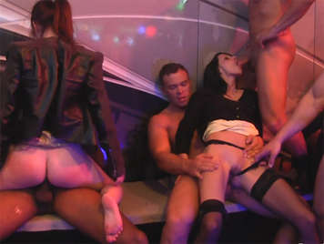 Orgy with European club vip zone