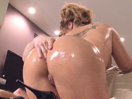 Spanish beauty smeared in oil and fucked hard