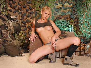 Czech Soldier Girl's Masturbation