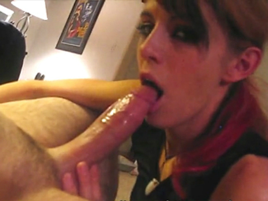 Homemade sex video: blowjob and deep throat