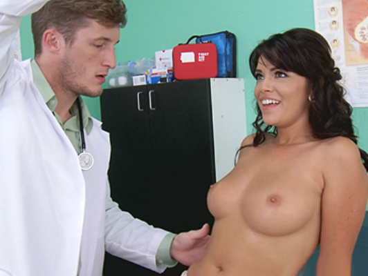 Young brunette natural tits perfect visit to the doctor
