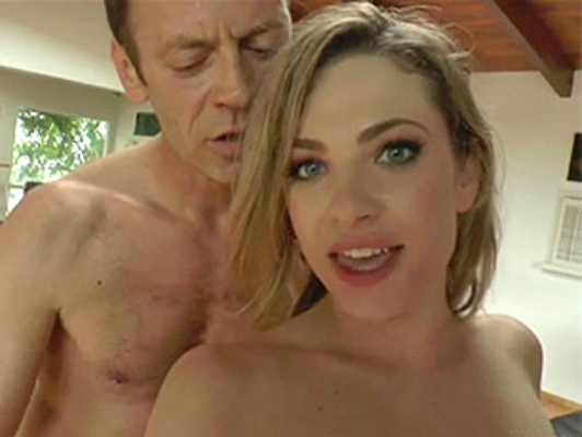 Blue eyes blonde slut anally fucked by Rocco Sifredi