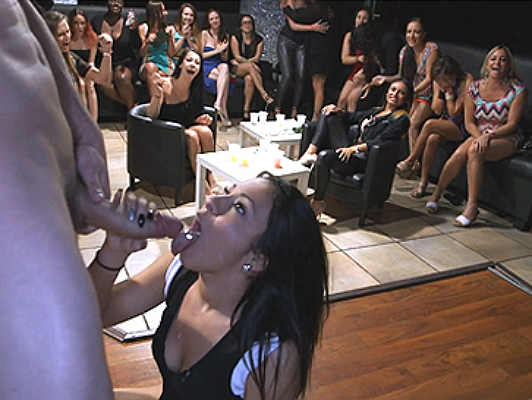 Wild bachelorette party with  girl fucking
