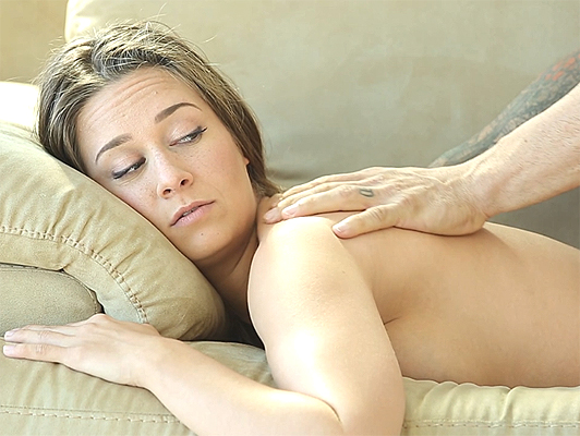 Cheating boyfriend fucking the masseuse