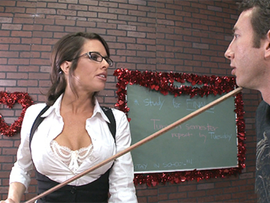busty teacher Avluv wants hard sex with her student