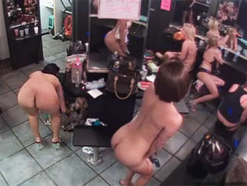 Hidden camera in a locker striptease club