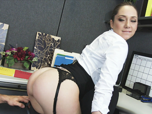 Secretary with big round ass having rough sex in the office