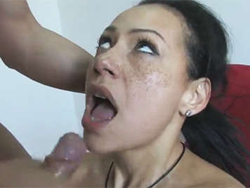 Argentina brunette with freckles on her face is fucked hard