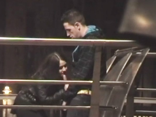 Young couple standing in the park recorded by a voyeur while she gives him a straw and sucks boyfriend cock