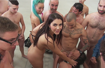 Female domination with witnesses