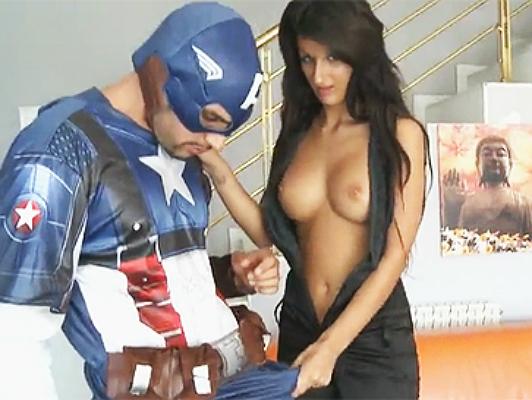X Porn parody of Captain America fucking a teen Black Widow.