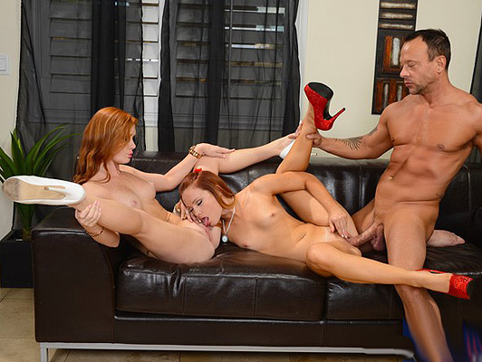 Threesome with two girls posh of London redheads with freckles full pointy tits who only think about fucking and a stuff their mouths with a good cumshot flavorful sperm