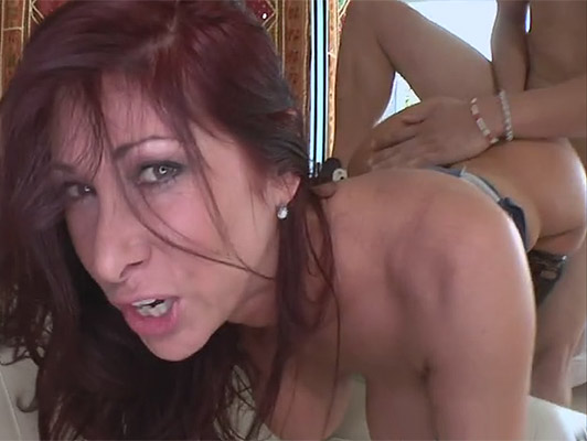 Mature busty redhead with a big ass fucking fours will fill the mouth and tits with his sperm she swallows with pleasure