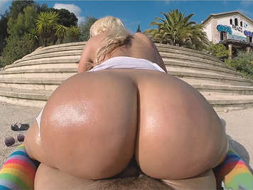 Fucking a blonde girl with a big ass Argentina buxom who loves sucking cock and swallowing hot cum all
