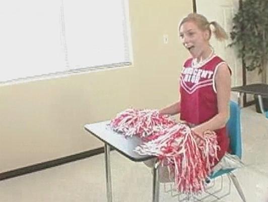 Cheerleader tenere tutti felici