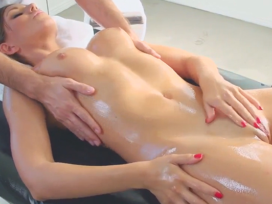 pleasure massage with a happy ending with a young girl in the gym