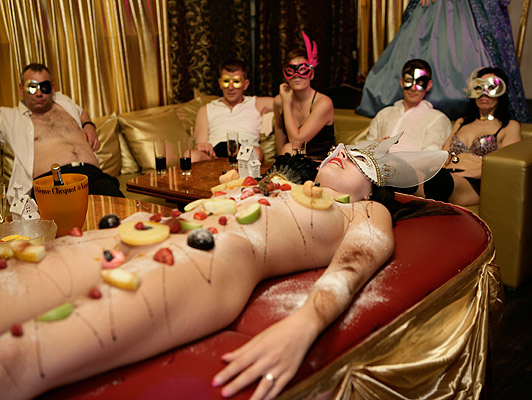 Fine dining swingers singles, it becomes a dirty Bacchanal of sex and food