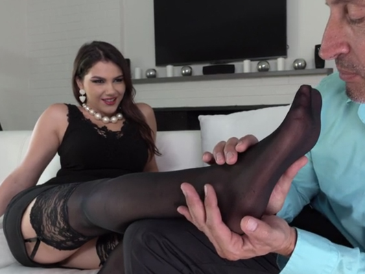 Beautiful and sexy buxom Italian madamme fucked in the ass are cumshot over their cute and sexy feet
