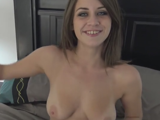 Busty blonde with a dildo in pussy while recording with two cameras in POV