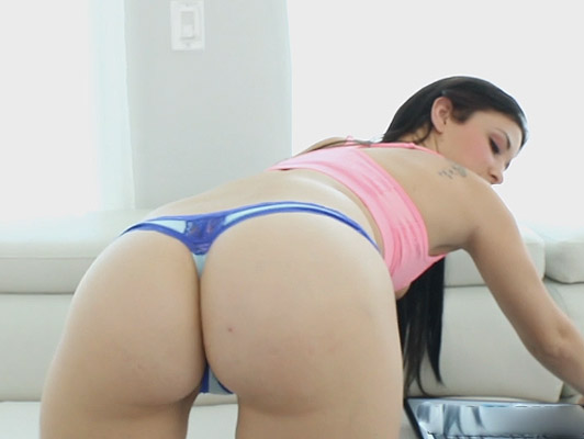 cute babe with thong is anal fucked