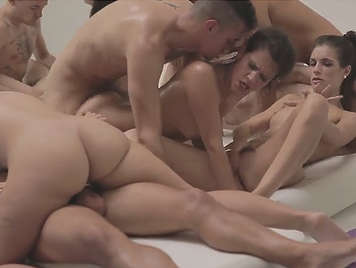 Great juvenile orgy in the gym