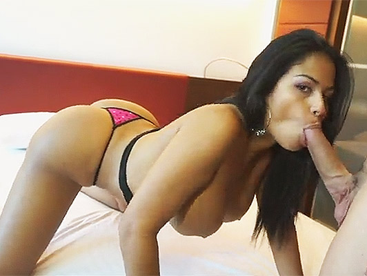 Colombian assed busty fucking bitch and shakes her ass and pussy filled with a nice cumshot of warm milk