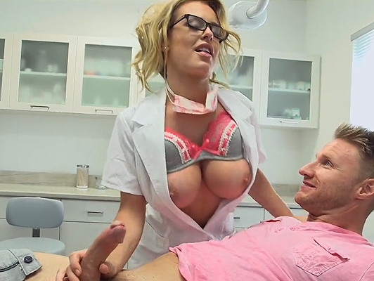 Intensive care at the hands of a hot busty nurse