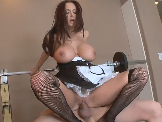 Sexy Girl left her man at home with their maid