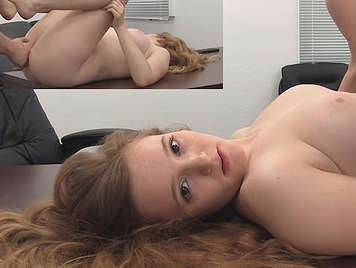 Casting a double camera to a 18 yo red-haired babe