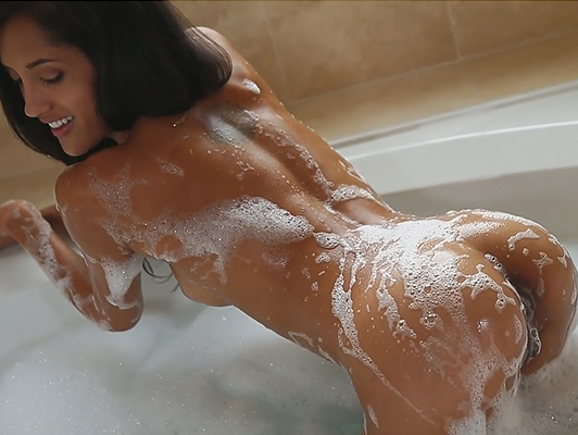 perfect ass dipped in soap and ready to be fucked