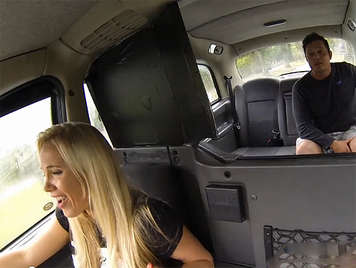 Female fake taxi with big bobs fucking with her client