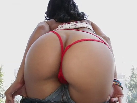 Cute Latina shows her ass with a sexy thongs as he smeared the ass with oil and prepare it for hard fuck on all fours like a bitch