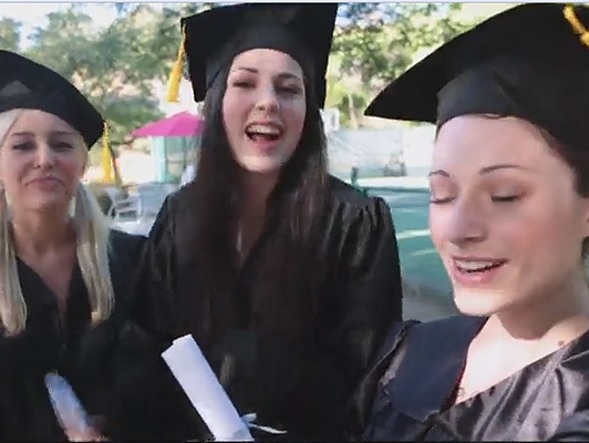 Graduation party with lesbian orgy included